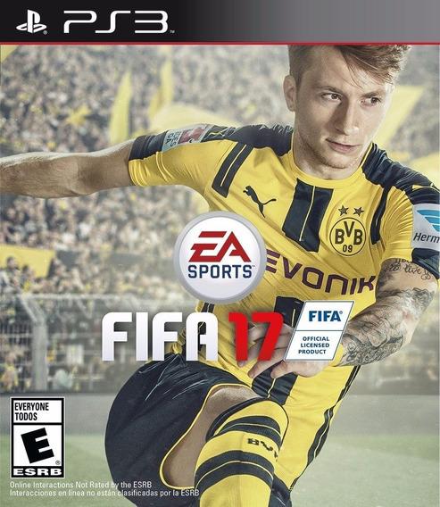 Jogo Mídia Física Fifa 17 Ea Sports Para Playstation 3
