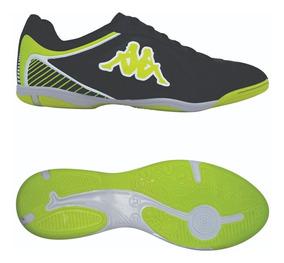Tênis Indoor Kappa Tracce - Cor Pto/vde - Num 38, 40 E 41