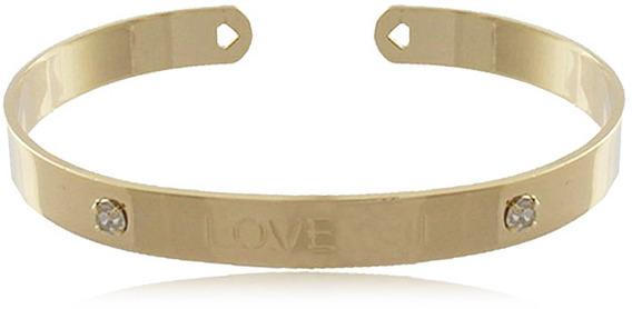 Bracelete Love Zircônias Folheado Em Ouro - Não Perca