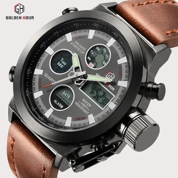 Relógio Esportivo Militar Golden Hour Preço Promocional