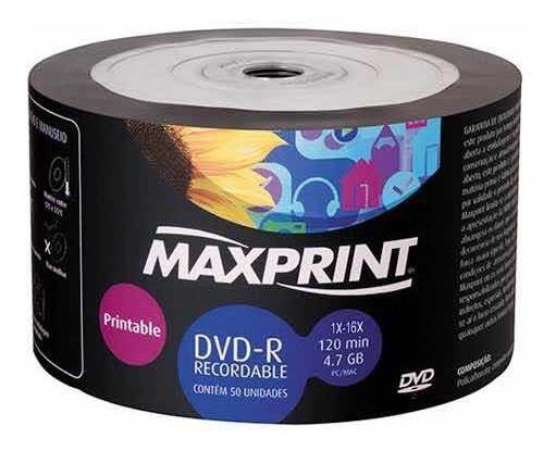 Dvd-r Maxprint 1x-16x 50unidades