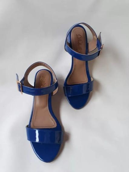 Sandália Salto Grosso Bloco Baixo 3,5 Cm Aberta Confortável