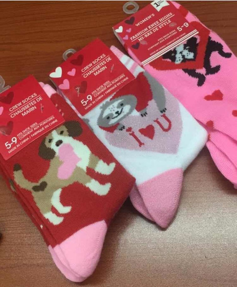 Calcetines Dama ,sanvalentin,perezoso, Boston Terrier,beagle