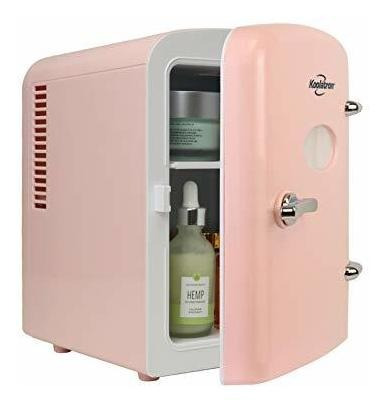 Mini Heladera Retro 6 Latas 4 L Pink Remedios Maquillaje Ø
