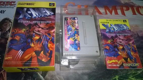 X Men Mutant Apocalypse Cib Super Famicom Leia Descricao