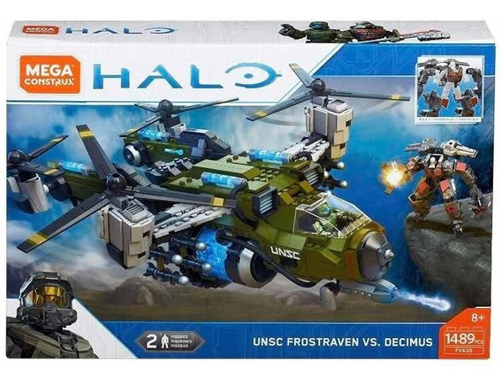 Mega Construx Halo Unsc Frostraven Decimus 1489 Helicoptero