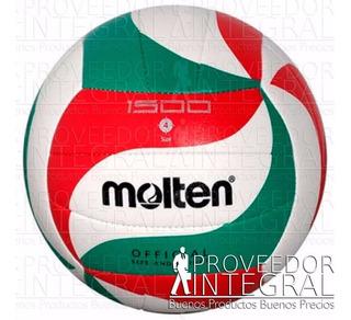 Balón Voleibol Volleyball 1500 Cosido Pvc # 4 Molten