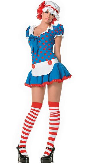 Disfraz Muñeca Mujer Importado Halloween Fiestas Cotillon Tm