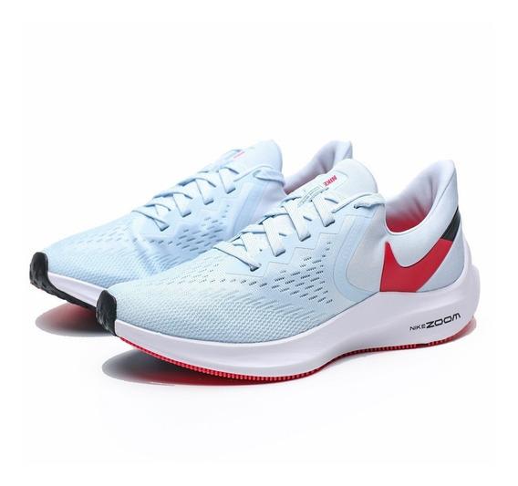 Zapatillas Nike Zoom Winflo 6 Mujer Celeste Aq8228401
