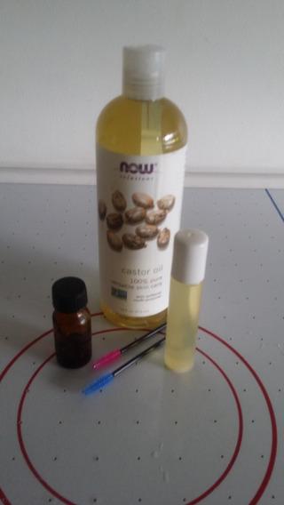 Aceite De Ricino Cejas Pestañas Barbas Cabello Con Aplicador