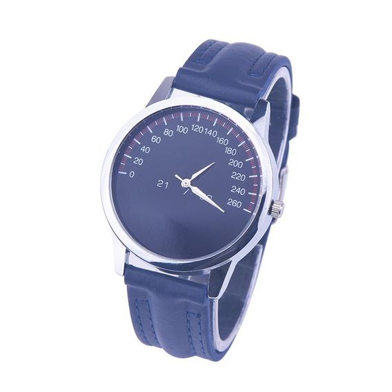 Relógio De Pulso Azul Painel Velocímetro Horas