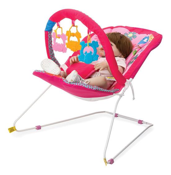 Cadeira De Descanso Bebe Musical Protek Jardim Rosa