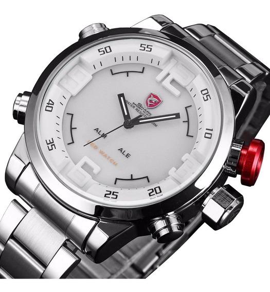 Relógio Masculino Tuguir Skmei 1146 Esportivo Digital Anadigi Analógico Original Luxo Aço Inox Grande Pesado Nota Fiscal