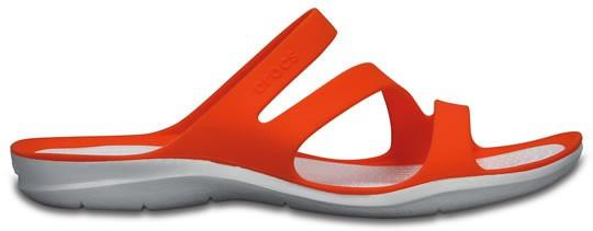 Sandalia Crocs Dama Swiftwater Sandal W Naranja/blanco