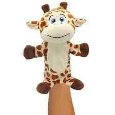 Fantoche Pelúcia Bichinhos Safari Unik Girafa