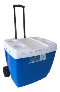 Cooler Caixa Termica 42 L Mor C/ Rodinhas Cabem 56 Latas 350
