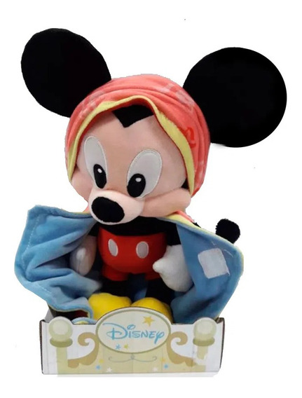 Peluche Mickey Con Mantita 25cm