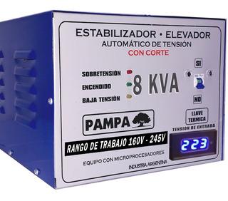 Elevador Automático De Tensión 8 Kva Pampa Estabilizador Cuo