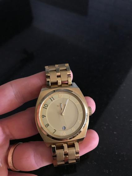Relógio Nixon Monopoly Dourado Semi Novo
