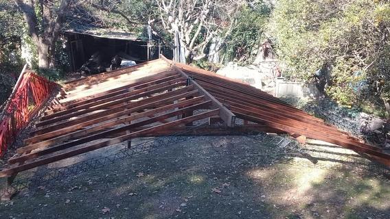 Estructura A Dos Agua De Madera Pino Parana Usado