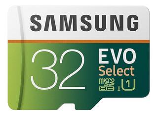 Cartão Microsd Samsung 32gb Evo Select Uhs-1 - Lacrado