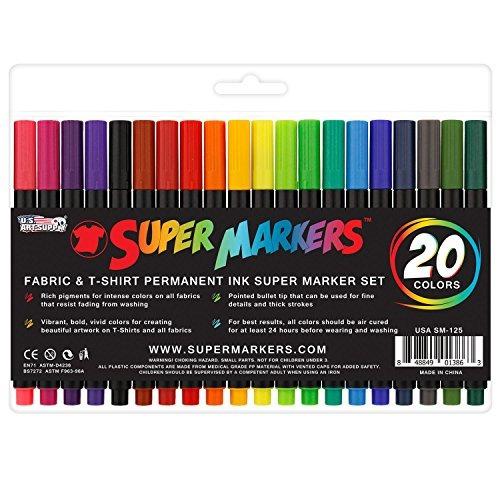 Súper Marcadores 20 Color De La Tela De Alta Calidad Y Cam