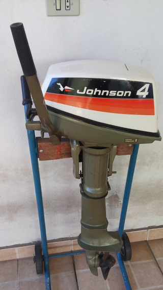 Motor De Popa Johnson 4 Hp Ano 1974