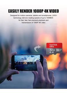 Cartao De Memória Microsd 32gb Sandisk Telefone Celular