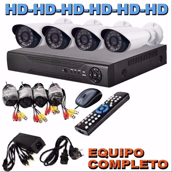 Kit Seguridad Dvr Full Hd 4 Camaras Hd Exterior / Interior C