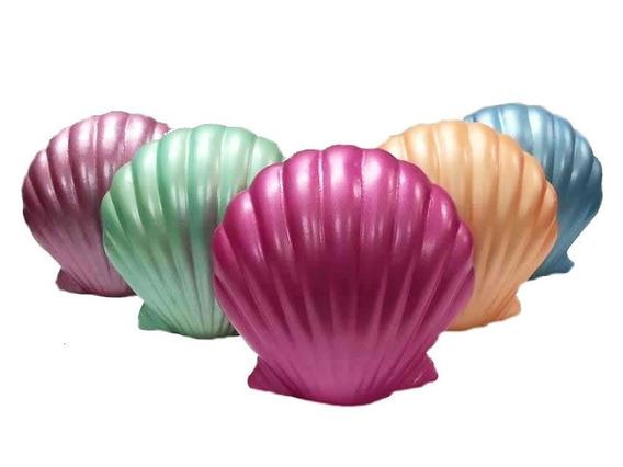 4 Conchas Para Decoração Fundo Do Mar E Sereia