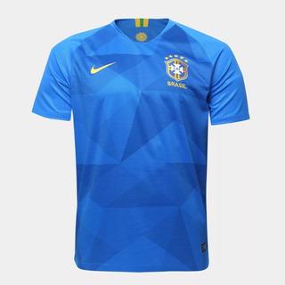 Camisa Seleção Brasileira Azul 2018 Nik Promoção Oficial