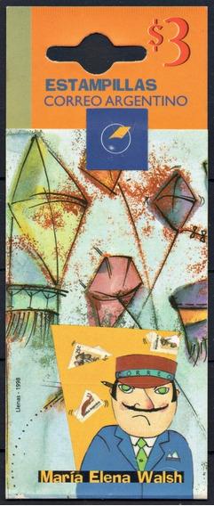 Argentina 1998 Gj 2875/78 Carnet 2875** Mint María E Walsh A