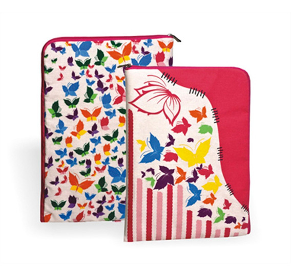 Capa Case Para Tablet 10 Netbook Borboleta