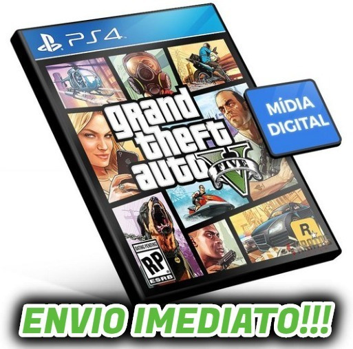 Gta V Mídia Digital Ps4 Psn + Brinde Envio Imediato