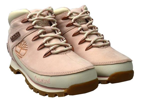 Botas Timberland Mujer Rosa Euro Hiker Mid Tb0a2397662