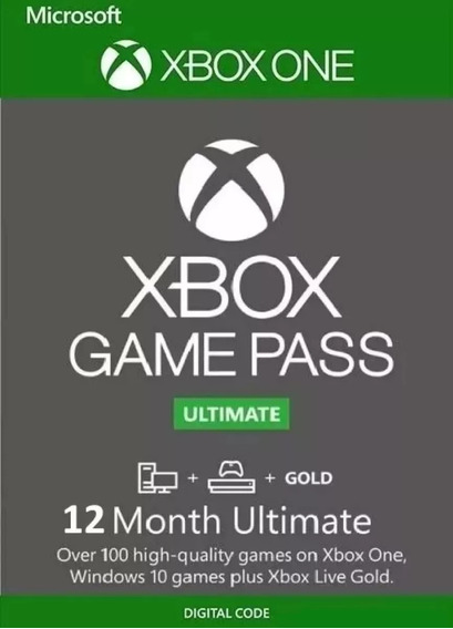 Game Pass Ultimate 12 Meses Código 25 Dígitos - Xbox One