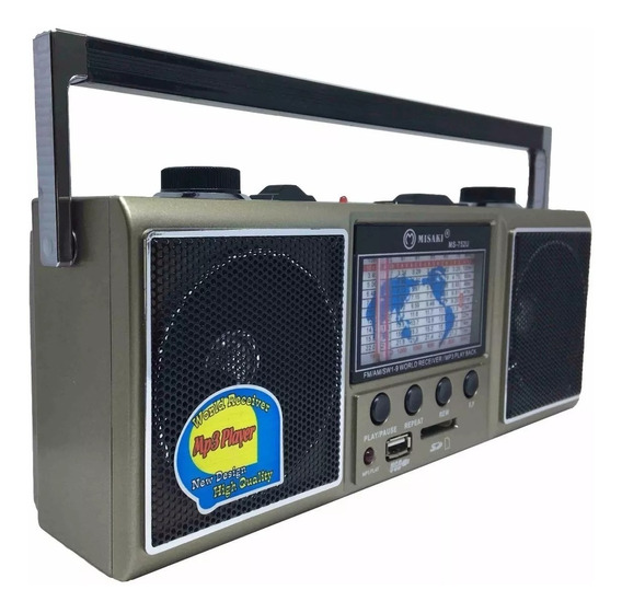 Radio Livstar Cnn752 Am/fm Retro Pen Drive/ Sd Recarregavel