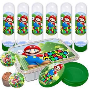 Adesivos Personalizados Lembrancinha Mario Bros 150 Peças