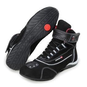 46068b83ec2 Tênis Motociclista Refletivo Preto Cano Médio Atron Shoes