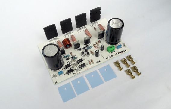 Placa 200w Com Fonte Embutida, Ativar Caixa,sub,amplificador