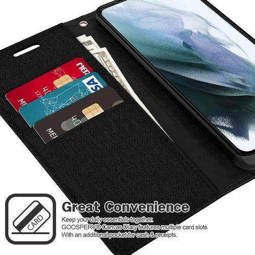 Imagen 1 de 6 de Funda Protector Cartera Con Tarjetero Canvas Para Huawei Y9a