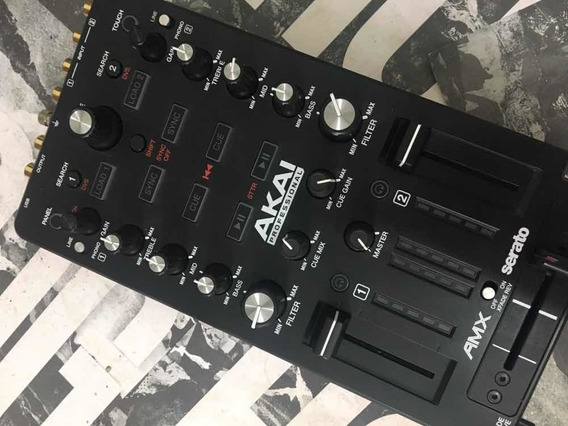 Akai Amx Mixer Interface Audio Som Serato Dj Controlador Usb