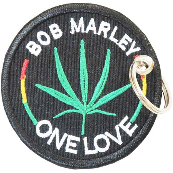 Chaveiro Patch Bordado Weed Album Reggae Bob Marley