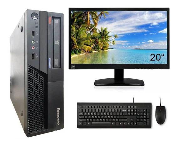 Cpu Lenovo Core 2 Duo E8400 4gb 80gb Dvd Monitor 20