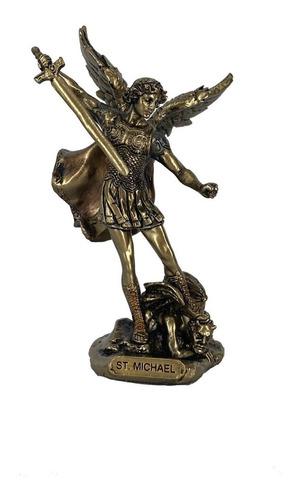 Imagen 1 de 1 de San Miguel Arcángel Figura Terminado Bronce Detallada
