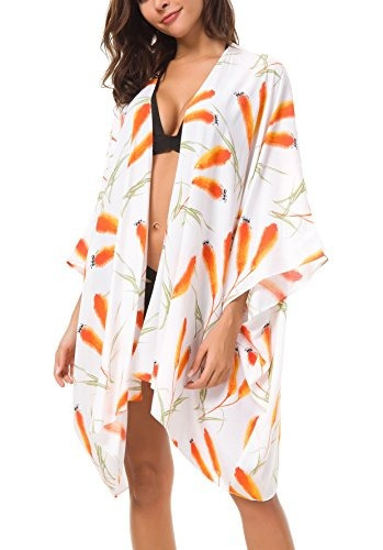 Urbano Coco Mujer Floral Bañador Hasta Kimono Cardigan Ropa