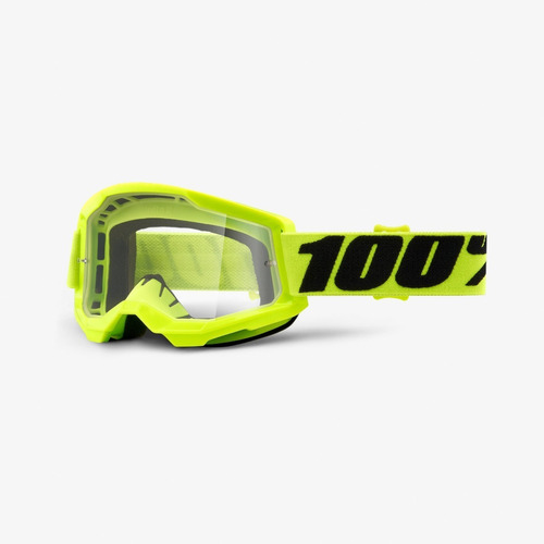 Gafas 100% Strata Neon Clear Bmx Atv Mx Downhill