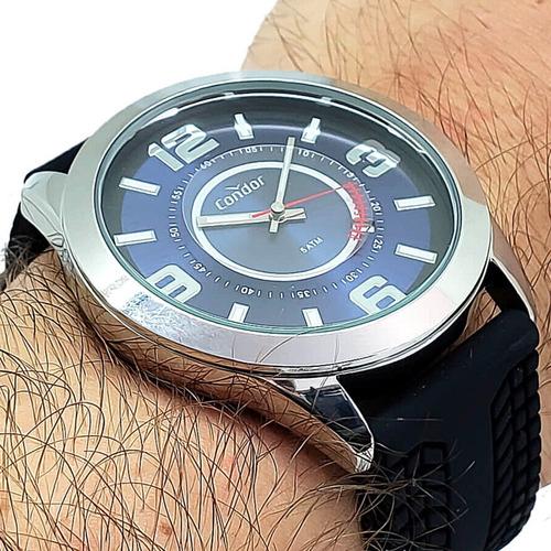 Relógio Masculino Pulseira De Borracha Condor Original