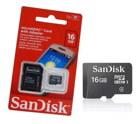 Cartão Micro Sd Sandisk 16gb Original Pronta Entrega