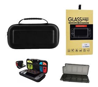 Bolso Nintendo Switch Estuche + Mica Protectora De Vidrio